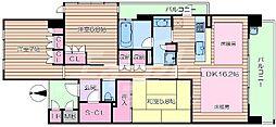 大阪府豊中市新千里北町2丁目の賃貸マンションの間取り