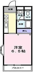 京成千原線 学園前駅 徒歩5分の賃貸マンション 1階1Kの間取り