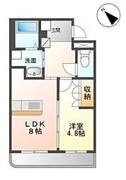 京王相模原線 稲城駅 徒歩13分の賃貸マンション 1階1LDKの間取り
