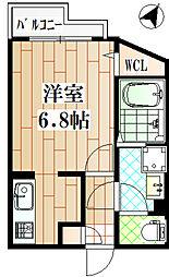 小田急小田原線 狛江駅 徒歩6分の賃貸マンション 1階1Kの間取り