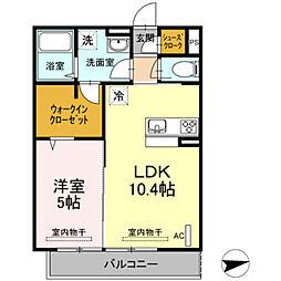仮)D−room宿河原[303号室]の間取り
