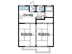 神奈川県綾瀬市寺尾西1の賃貸アパートの間取り