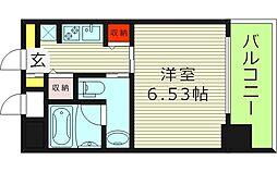 リンクハウス大阪城 2階1Kの間取り