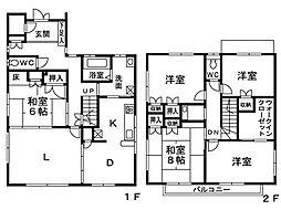 [一戸建] 福岡県福岡市早良区原4丁目 の賃貸【/】の間取り