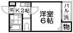 プラザ高柳1号館[1階]の間取り