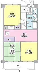 神奈川県横浜市緑区長津田7丁目の賃貸マンションの間取り