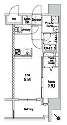福岡市地下鉄七隈線 渡辺通駅 徒歩10分の賃貸マンション 3階1LDKの間取り
