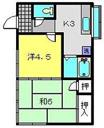 [一戸建] 神奈川県横浜市磯子区森4丁目 の賃貸【/】の間取り