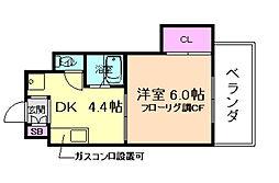 岡崎ハイツ[3階]の間取り