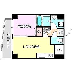 Sanlemout SINOSAKA east2[4階]の間取り