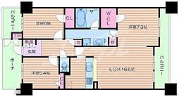 リビオ都島パークスクエア[10階]の間取り