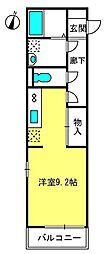 椿ヴィレッジ[2階]の間取り