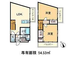 [一戸建] 東京都北区赤羽西2丁目 の賃貸【東京都 / 北区】の間取り