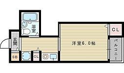 ティーホームズ新大阪[3階]の間取り