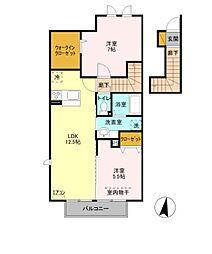 埼玉県さいたま市西区西大宮3丁目の賃貸アパートの間取り