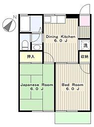 スイートハイム[2階]の間取り