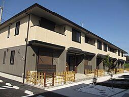 茨城県筑西市直井の賃貸アパートの外観