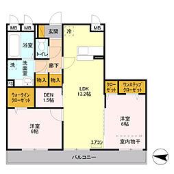 D-room シャルマン栄 III[2階]の間取り