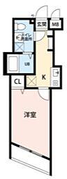 プランドールOSU[1階]の間取り