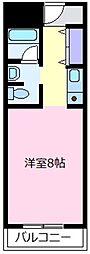天美ハイツ[7階]の間取り