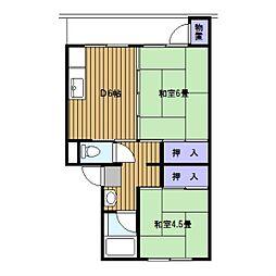 竹山 第1[1階]の間取り
