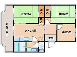 滋賀県長浜市列見町の賃貸マンションの間取り