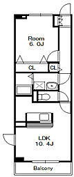 カーサ・ファミリア[3階]の間取り