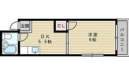 ラポール淡路[1階]の間取り