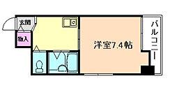 ロイヤルプラザ福島[4階]の間取り