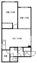 ?NEXT札幌第15[2階]の間取り