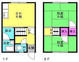 辻文化荘[7号室]の間取り