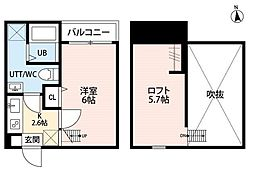 ルーモ平塚(ルーモヒラツカ)[2階]の間取り