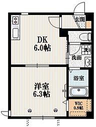 Flats Y 1階1DKの間取り
