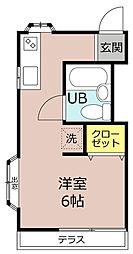 コーポ七沢[1階]の間取り