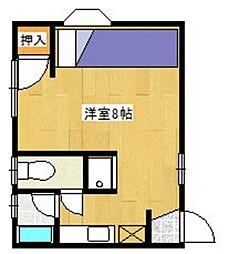 ウィン松山 A[103号室]の間取り