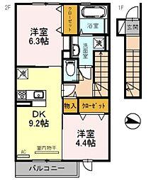 仮)三木市福井D−room[207号室]の間取り