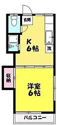 冨士荘[207号室]の間取り