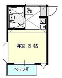 レザヴィ[2階]の間取り