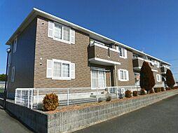 愛知県田原市西神戸町清水の賃貸アパートの外観