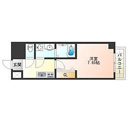 JR大阪環状線 福島駅 徒歩9分の賃貸マンション 3階1Kの間取り