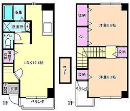 ドウーソレール2[1階]の間取り