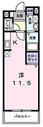 南海高野線 北野田駅 徒歩12分の賃貸マンション 3階ワンルームの間取り