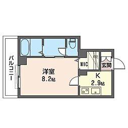 仮)ベレオ・フジコート新松戸 3階1Kの間取り