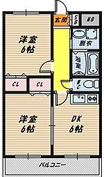 大阪府大阪市城東区天王田の賃貸マンションの間取り