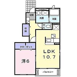 グリーンリーフI[1階]の間取り