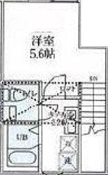 ルクソール狛江 2階1Kの間取り