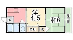シティハイツ田寺[1階]の間取り