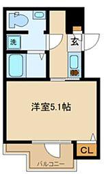 サニーヒルコート中野坂上 3階1Kの間取り