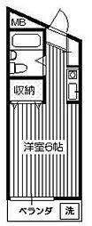 レジデンス川寺[2階]の間取り