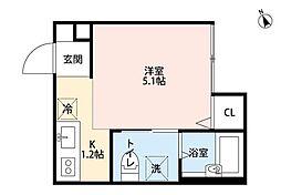 ブリオ新松戸[1階]の間取り
